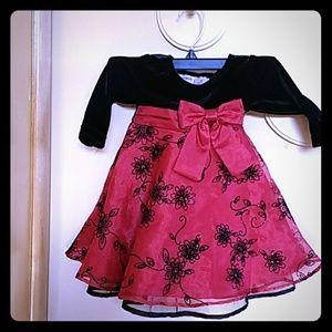 Blueberi boulevard girl frilly dress 12 months